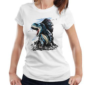 King Kong Vs T Rex Karaktär Heads Kvinnor's T-Shirt