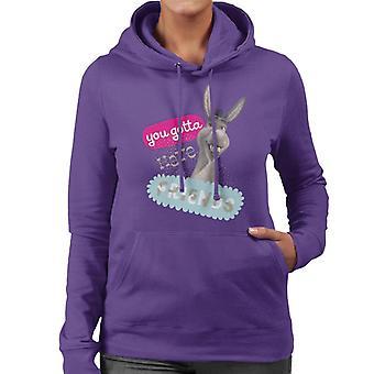 Shrek Donkey You Gotta Have Friends Women's Hooded Sweatshirt