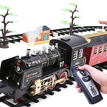 Nouveau train électrique set Rc Railway Remote Control Rail Car Steam's Toy