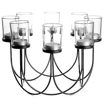 8 Tealight Candle Holder | M&W Black