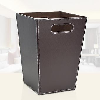 Business Square Leather Trash Cans Wastepaper Mand Sundries Household Office