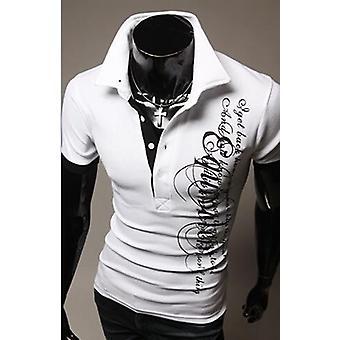 Men&Apos;s Fashion Brands Új rövid ujjú póló ing, alkalmi lélegző szilárd