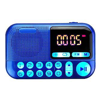 المحمولة FM راديو الرقمية عرض ثنائي صوت لفائف المتكلم TF بطاقة مشغل الموسيقى