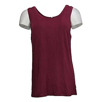 Cuddl Duds Women's Softwear Stretch Omkeerbare Scoop Crew Tank Red A293078