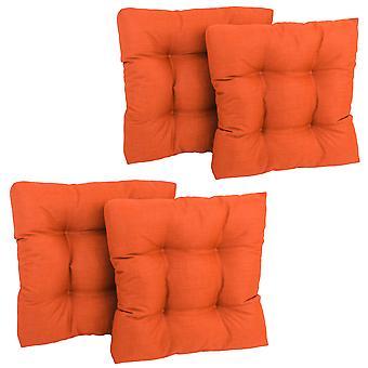 Cojín de silla de comedor de poliéster hilado cuadrado de 19 pulgadas (conjunto de cuatro) - Sueño de mandarina