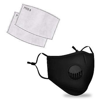 Máscara facial protetora respirável, filtro de carbono ativado