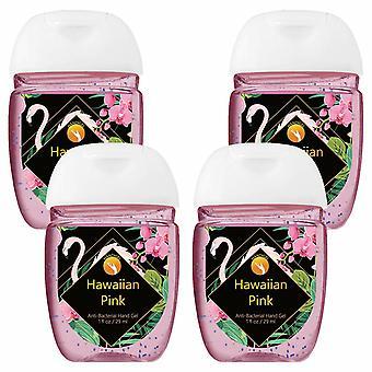 HandiGel Pocket Size Hand Sanitizers Antibacterial Gel, 29ml-Hawaiian Pink, 4pk