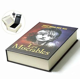 Größe M Buch Safe Key Lock Typ Geheimes Buch versteckte Sicherheit sicher