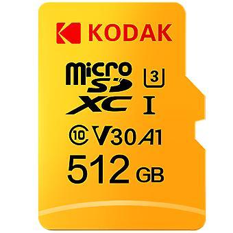 Alkuperäinen Kodak 512gb Micro Sd -kortti, Nopea Cartao Memory Mecard C10 1tb