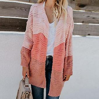 Knitted Long Sleeve Sweater Coat