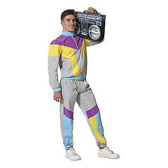 Kostuum voor volwassenen jaren '80 grijs