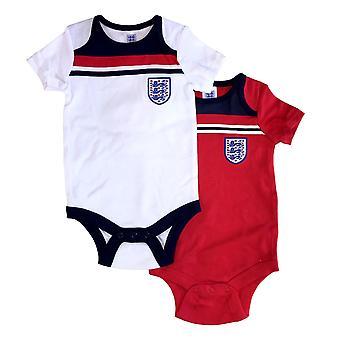 イングランドサッカー1982レトロベビー2パックボディスーツ|2021