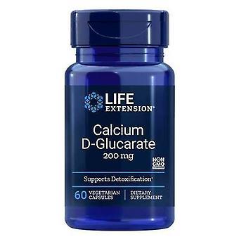 Life Extension Calcium D-Glucarate 200 mg 60 Veggie Capsules