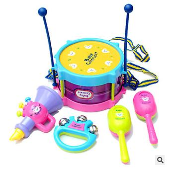 Children's Fun 5-osainen Baby Musical Instrument Kaksipuolinen Rumpu