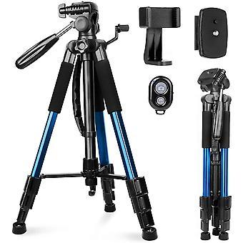 "Camera Tripod 63""/160cm, DZK DSLR Tripods Aluminum Travel Vlog Tripod with Carrying Bag, 3-Way"