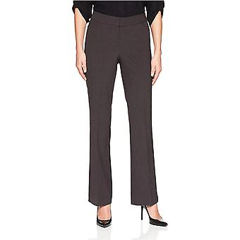 Lark & Ro Women's Bootcut Trouser Pant: Curvy Fit, Charcoal,, Charcoal, Size 8.0