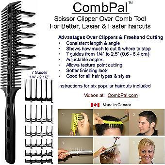 HanFei CombPal Scherenschneider ber Kamm Haarschneidewerkzeug Friseur Haarschnitt Kamm Set (Grau)