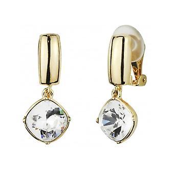 Viajero - Pendiente drop clip - Cristales swarovski - Chapado en oro de 22ct - 157449 - 948