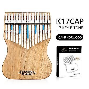 B Tone Gecko Kalimba 17 Keys Full Placage Camphor Wood,with Instruction And Tune