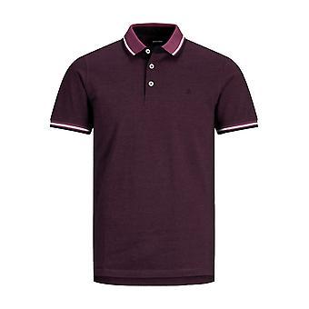 Mænd JACK & JONES Polo Shirt JJEPAULOS Krave Kortærmet Basic Pique Bomuld