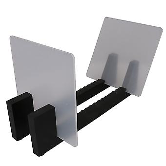 Record Storage Holder Black Retro Albums Storage Rack for Music Albums