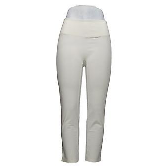 Kvinder med Kontrol Kvinders Petite Pants Mave Control Slim Ben Hvid A391212