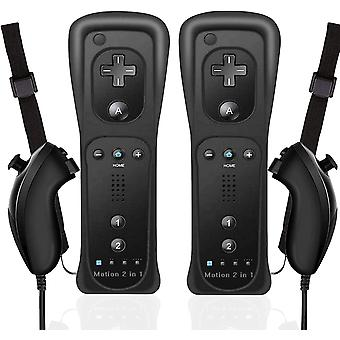 FengChun 2 STK Wii Fernbedienung Fernbedienung mit Nunchuk Motion Plus, Wireless Gamepad für Wii