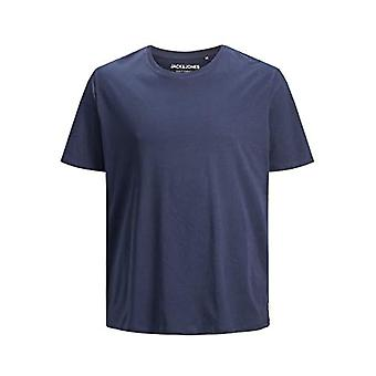 JACK & JONES Jjeorganic Basic Tee SS O-Neck Noos Plus T-Shirt, Blue (Navy Blazer Navy Blazer), XXXX-Large Men