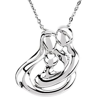 925 Sterling Silver 1 Child Family 18 Inch Necklace - 10.3 Grams