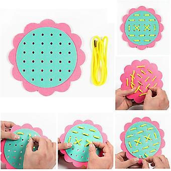 DIY Webtuch Montessori Baby Frühlernen Bildung Spielzeug Lehre Aids Mathe Spielzeug