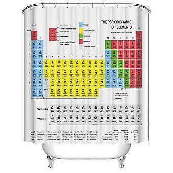 Tabla periódica de elementos cortina ducha durable tejido impermeable con 12 ganchos 180x180cm