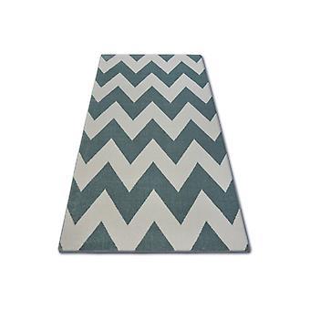 Rug SKETCH - FA66 turquoise/cream - Zigzag