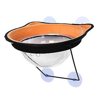البرتقال كبسولة الفضاء القط القمامة القط أرجوحة القط تشمس في نافذة الشمس عتبة القط إلى az15355
