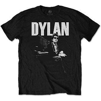 Bob Dylan - At Piano Men's Small Shirt - Black