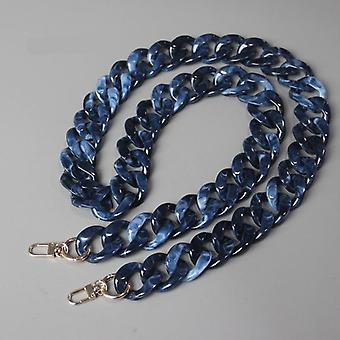 Detachable Resin Blue Luxury Strap Women Clutch Shoulder Purse Chain
