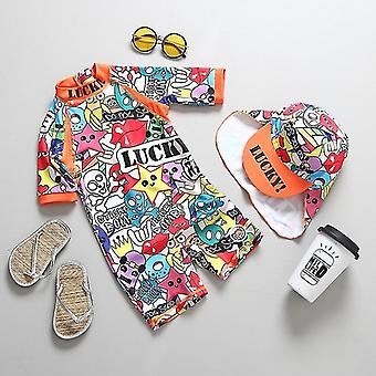 Children''s Swimwear Graffiti Print Swimming Suit For Baby Unisex Uv BathingChildrens Swimwear Graffiti Print Swimming Suit For Baby Unisex Uv Bathing. Specifications:  Material: Polyester Material: Spandex Department Name: Baby Fit: Fits True to Size