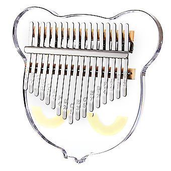 Калимба Большой палец фортепиано 17 ключей милый кот акриловый прозрачный портативный музыкальный инструмент для детей