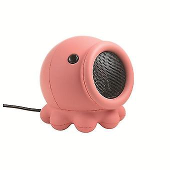 Creative Octopus Heater Cartoon Small Desktop Speed Heater Winter(Red)