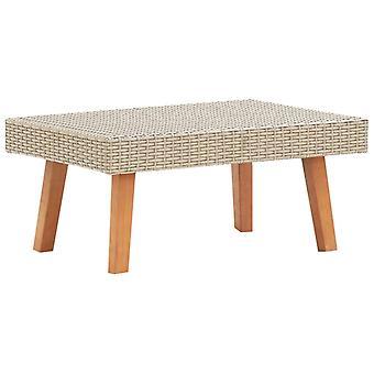 vidaXL Garden Coffee Table Poly Rattan Beige