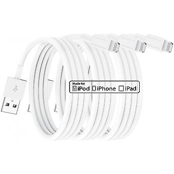 3 Pack Apple Mfi Certified Iphone Charger 2m, Lightning Cable 2 Metres Fast Iphone Charging Cord For Apple Iphone12/12mini/iphone 11/11 Pro/11 Pro Max