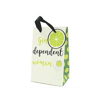 SISTA FÅ - Parfym stil Pappers presentpåse - Gin beroende kvinna - 20x12x9