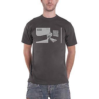 Muse T Shirt Shifting Band Logo new Official Mens Charcoal Grey