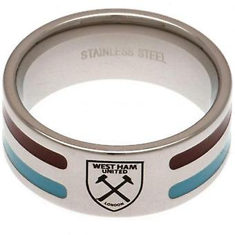 West Ham United Colour Stripe Ring Large