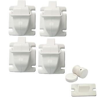 Invisible child lock with magnet 4-pack
