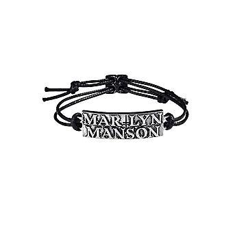 Marylin Manson Armband Logo 3D geformt Zinn neue offizielle schwarz