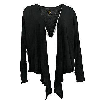 Belle by Kim Gravel Women's Sweater Summer Shrug Cardigan Black A304410