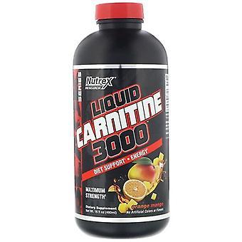Liquid Carnitine 3000, Orange Mango - 480 ml.