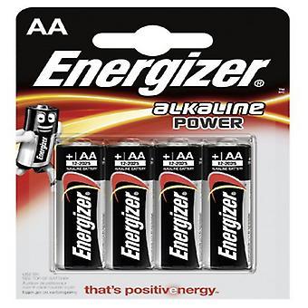 Alkaline Batteries Energizer E300132900 AA LR6 (4 uds)
