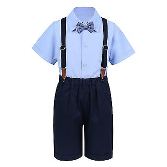 4pcs Infant Baby Gentleman Outfit