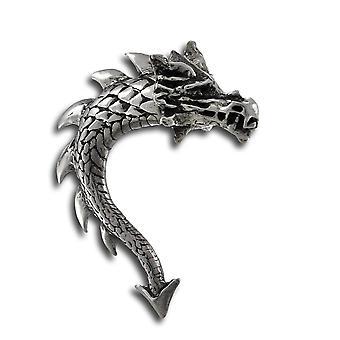 Alchemy Gothic Tor Dragon doble cara pendiente del perno prisionero